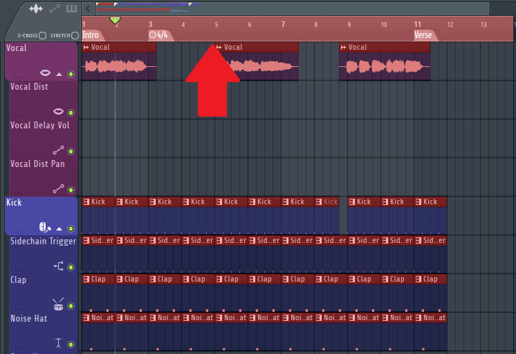 FL studio playlist view
